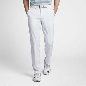 Nike Golf White Pants, flat front. 34 A5